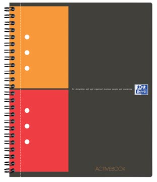 Oxford cahier International Activebook, 160 pages, ft A4+, quadrillé 5 mm