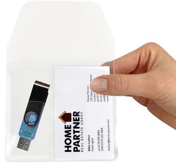 3L pochette pour cartes visites et clé USB, paquet de 10 pièces