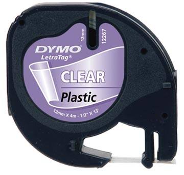 Dymo LetraTAG ruban 12 mm, plastique transparent