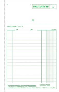 Exacompta factures, ft 21 x 13,5 cm, tripli, Français