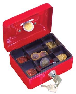 Wedo coffret à monnaie, ft 12,5 x 9,5 x 6,3 cm, couleurs assor ties