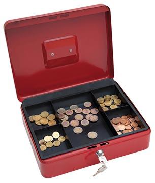 Wedo coffret à monnaie, ft 30 x 24 x 9 cm, rouge