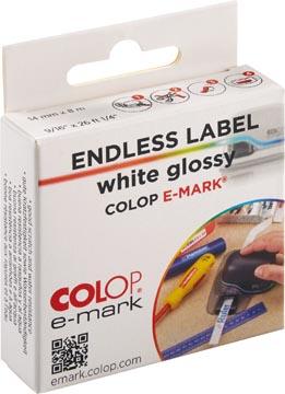 Colop ruban continu pour e-Mark, ft 14 mm x 8 m, blanc brillant