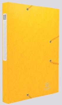 Exacompta Boîte de classement Cartobox dos de 2,5 cm, jaune, épaisseur 5/10e