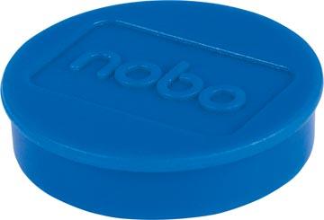 Nobo aimants diamètre de 30 mm, bleu, blister de 4 pièces