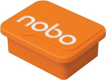 Nobo aimants pour tableau blanc, orange, paquet de 4