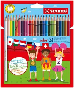 STABILO Color crayon de couleur, étui cartonné de 24 pièces