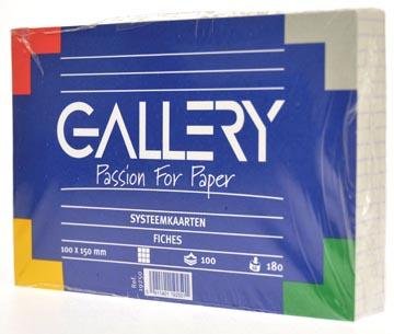 Gallery fiches blanches, ft 10 x 15 cm, quadrillé 5 mm