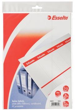 Esselte Etiquettes de dos imprimables large (pour classeurs de 75 mm), 50 pièces