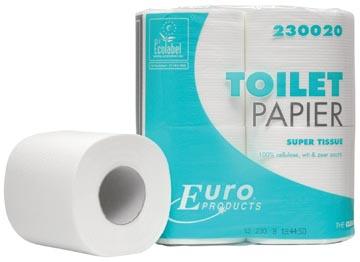 Europroducts papier toilette, 2 plis, 200 feuilles, paquet de 4 rouleaux