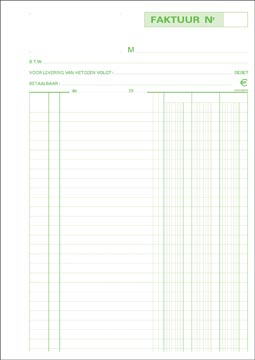Exacompta factures, ft 29,7 x 21 cm, dupli, verticale, néerlandais