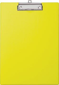 Maul plaque à pince, en PP, pour ft A4, geel