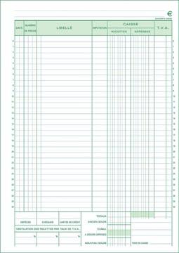 Exacompta manifold caisse, ft A4, français, dupli (50 x 2 feuilles)