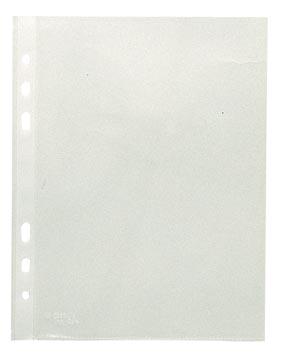 Esselte pochette perforée, ft A5, en PP, 6 trous, boîte de 100 pièces