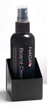 Naga liquide nettoyant avec support pour tableaux blancs.
