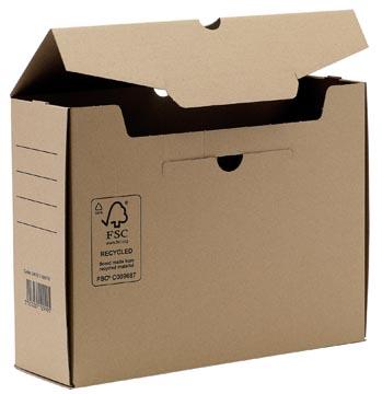 Transfer boîte archive, ft A4, dos de 10 cm, brun