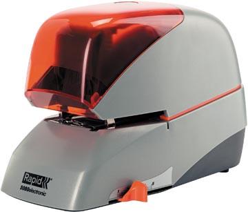 Rapid agrafeuse electrique 5080E, argent/orange