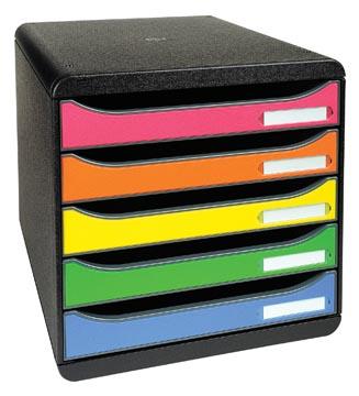 Exacompta bloc à tiroirs Big-Box Plus Classic, arlequin