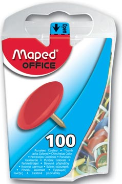 Maped punaises assortiment, boîte de 100 pièces