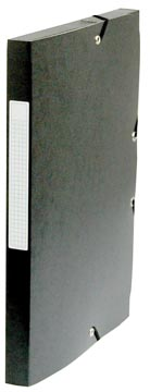 Pergamy boîte de classement, dos de 2,5 cm, noir
