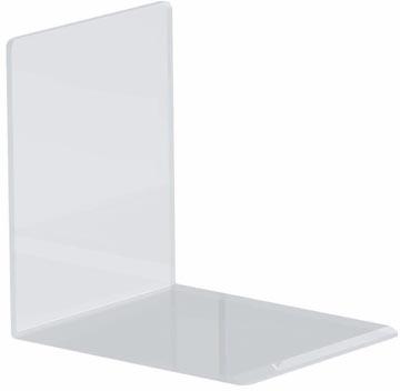 Maul serre-livres ft 10 x 8 x 10 cm, transparent, paquet de 2 pièces