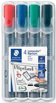 Marqueur pour tableaux de conférence Lumocolor, 4 pièces en couleurs assorties