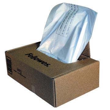 Fellowes sacs de 30 liter pour destructeurs, paquet de 100 sacs