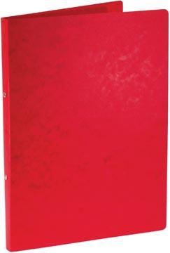 Bronyl classeur à anneaux, pour ft A4, en carton lustré, 2 anneaux de 16 mm, rouge