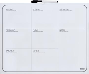 Desq planning magnétique hebdomadaire ft 40 x 50 cm
