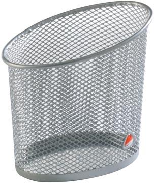 Alba pot à crayons en métal mesh, gris