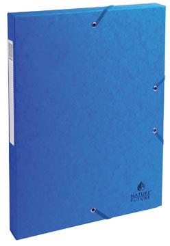 Exacompta boîte de classement Exabox bleu, dos de 2,5 cm