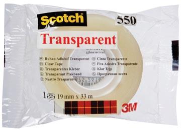 Scotch ruban adhésif transparent 550, ft 19 mm x 33 m