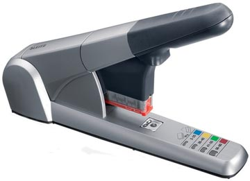 Agrafeuse Leitz Heavy Duty 5551, agrafe jusqu'à 80 feuilles, pour cassettes K6, K8, K10 et K12, argent