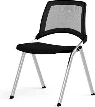 EOL chaise visiteur, dos en résille, noir