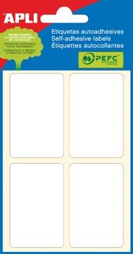Apli étiquettes blanches ft 34 x 53 mm (l x h), 24 pièces, 4 par feuille (2683)