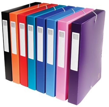 Exacompta boîte de classement dos de 4 cm couleurs assorties