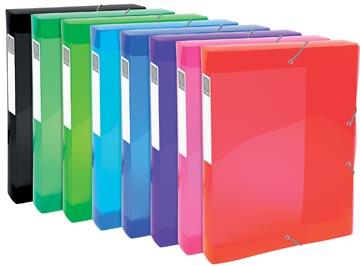Exacompta Iderama boîte de classement, en PP, dos de 4 cm, couleurs assorties