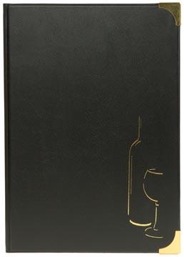 Securit carte de vins Basic ft A4, noir