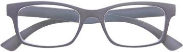 SILAC Soft Grey lunettes de lecture, caoutchouc polycarbonate, +2,50
