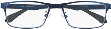 SILAC Blue Metal lunettes de lecture, métal san nickel bleu mat, +2,50