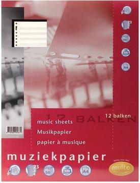 Multo papier à musique, ft A4, 23 trous