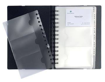 Exacompta Porte-cartes de visite Exactive ft 20 x 14,5 cm, 120 pochettes