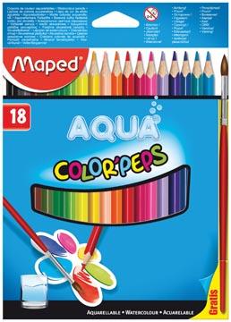 Crayon de couleur aquarellable Color'Peps Aqua 18 crayons