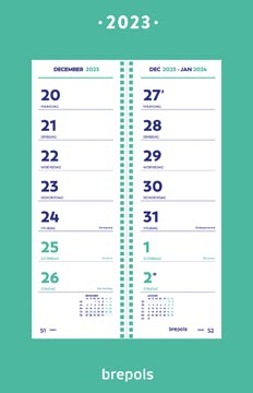 Brepols calendrier semaine, 2022