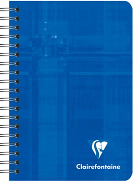 Clairefontaine cahier ft 9,5 x 14 cm, 180 pages, gelijnd, reliure spiralé, couleurs assorties