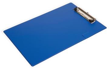 Pergamy plaque à pince, pour ft A4, en PVC, bleu