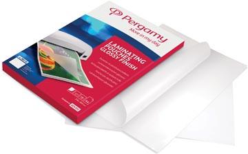 Pergamy pochette à plastifier, ft A4, 200 microns (2 x 100 microns), paquet de 100 pièces