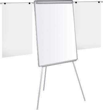 Pergamy tableau de conférence magnétique avec pince de fixation et 2 bras téléscopiques ft 107 x 75cm