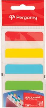 Pergamy onglets, ft 38 x 51 mm, paquet de 4 x 6 feuilles, couleurs assorties
