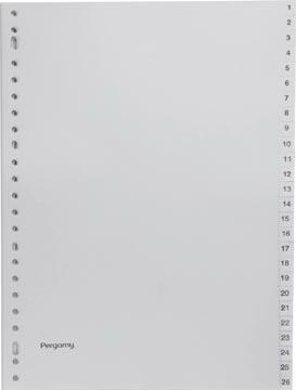 Pergamy intercalaires, ft A4, perforation 23 trous, PP gris, set 1-52